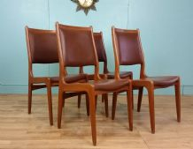 Teak Danish dining chairs - SOLD